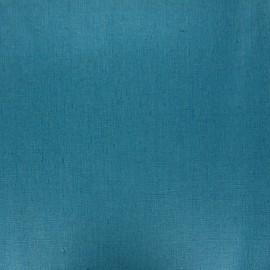Tissu lin lavé enduit - bleu canard x 10cm