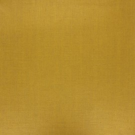 Coated washed linen fabric - curry yellow x 10cm