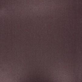Tissu lin lavé enduit - chocolat x 10cm