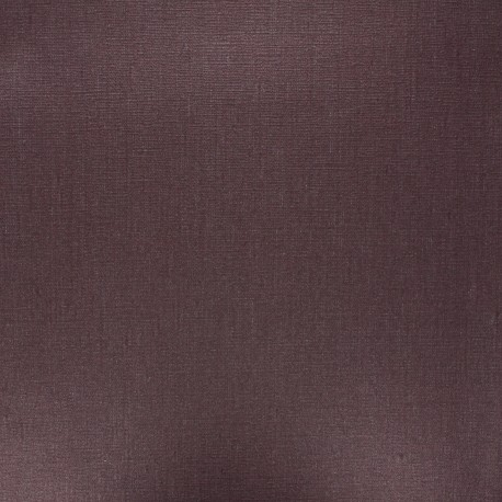 Coated washed linen fabric - chocolate x 10cm