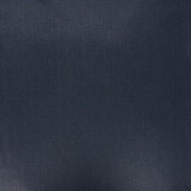 Tissu lin lavé enduit - bleu nuit x 10cm