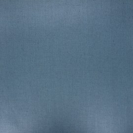 Coated washed linen fabric - steel blue x 10cm
