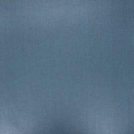 Tissu lin lavé enduit - bleu acier x 10cm