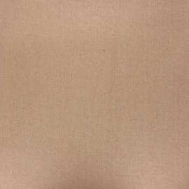 Tissu lin lavé enduit - noisette x 10cm