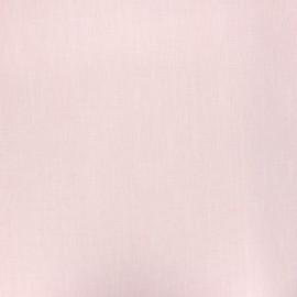 Tissu lin lavé enduit - rose poudré x 10cm