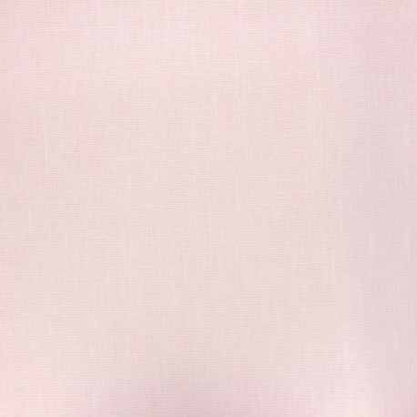 Coated washed linen fabric - powder pink x 10cm