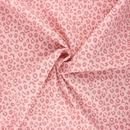 Poplin cotton fabric - light pink Leopardo x 10cm