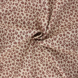 Poplin cotton fabric - sand Leopardo x 10cm