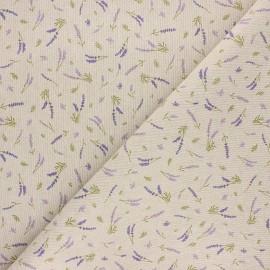 Tissu toile polycoton Parfum de lavande - violet x 10cm