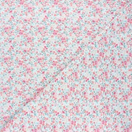 Tissu jersey Garden dream - blanc x 10cm