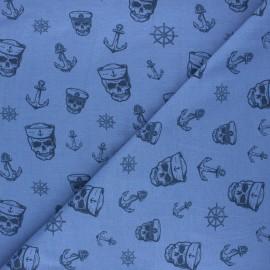 Tissu jersey Haunting pirate - bleu x 10cm