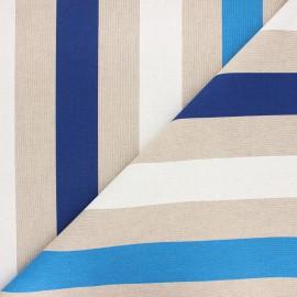 Tissu toile polycoton Ile de Ré - bleu x 10cm
