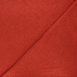 Flamed linen viscose jersey fabric - rust Roma x 10cm
