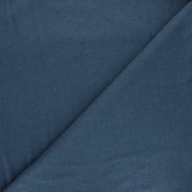 Tissu jersey lin viscose flammé Roma - bleu houle x 10cm