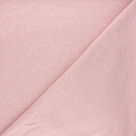 Flamed linen viscose jersey fabric - light pink Roma x 10cm