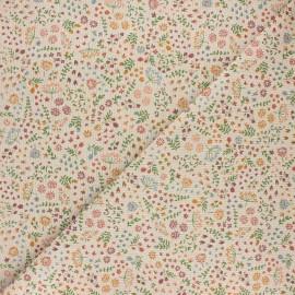 Tissu toile polycoton Primavera - orange x 10cm