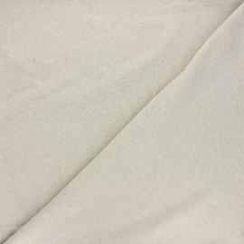 Flamed linen viscose jersey fabric - grege Roma x 10cm