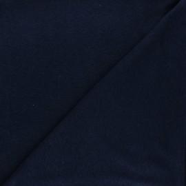 Flamed linen viscose jersey fabric - night blue Roma x 10cm