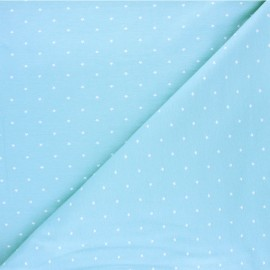 Tissu jersey Starry night - bleu clair x 10cm