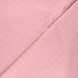 Tissu jersey Starry night - rose clair x 10cm