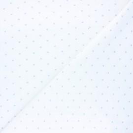 Tissu jersey Starry night - blanc x 10cm