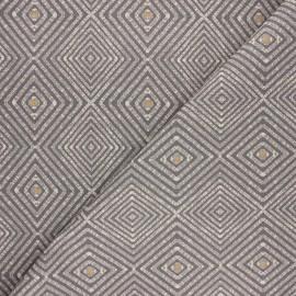Tissu toile polycoton Ethnic diamond - gris x 10cm