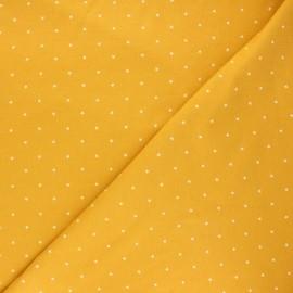 Tissu jersey Starry night - jaune moutarde x 10cm