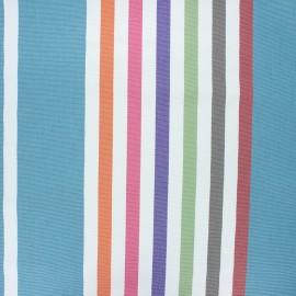 Outdoor canvas fabric - blue Heat wave x 10cm