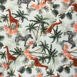 Printed sweatshirt fabric - raw Sweet savannah x 10cm