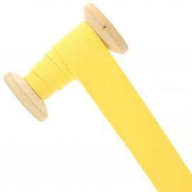Sangle coton 30 mm - jaune citron - bobine de 15 m