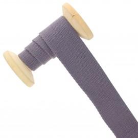 Sangle coton 30 mm - améthyste - bobine de 15 m