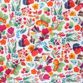 Tissu sweat Summer days - blanc x 10cm
