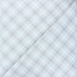 Tissu coton Timeless Treasures - Edward - blanc x 10cm