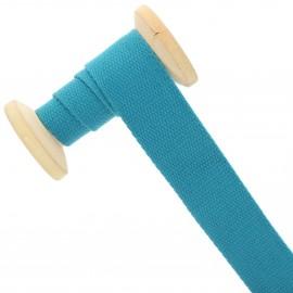 30 mm plain cotton Strap roll - peacock blue