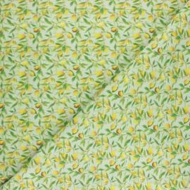 Cretonne cotton fabric - green Limonero x 10cm