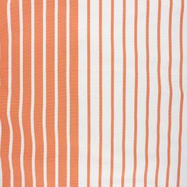 Tissu toile transat Chill day - orange x 10cm