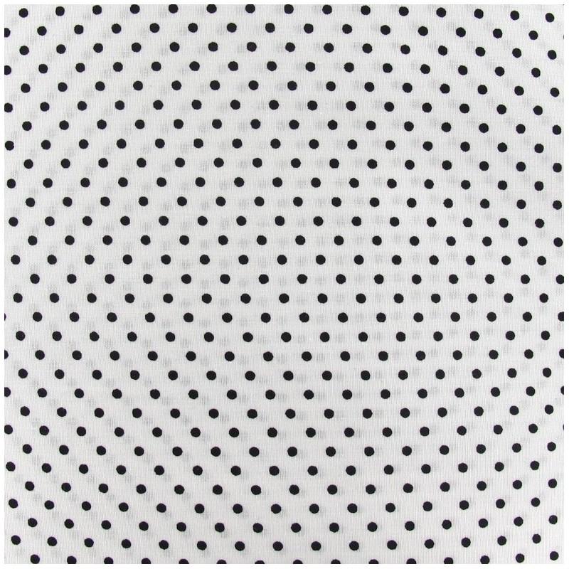 tissu petits pois noir fond blanc x 10cm ma petite mercerie. Black Bedroom Furniture Sets. Home Design Ideas