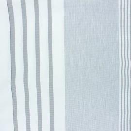 Tissu toile transat Under the sun - gris clair x 10cm