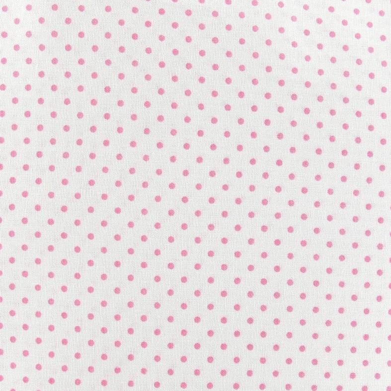 Imprimé en mousseline de soie Tissu-Petit Motif à Pois-Dusty Rose /& Blanc cassé