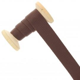 Sangle polypropylène 23 mm - chocolat - bobine de 15 m