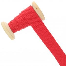 Sangle polypropylène 23 mm - rouge intense - bobine de 15 m