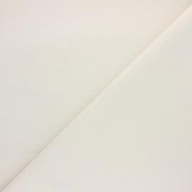 Tissu polycoton tissé Natura rayure - écru x 10cm