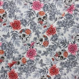 Jacquard fabric - white Vanité x 10cm