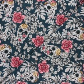 Jacquard fabric - peacock blue Vanité x 10cm
