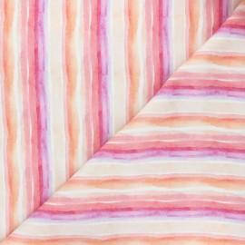 Tissu coton Dear Stella Summer lovin' - Striped out - rose x 10cm