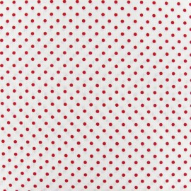Little Dots Fabric - Red / White x 10cm