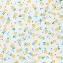 Dear Stella cotton fabric Summer lovin' - white Pineapple x 10cm