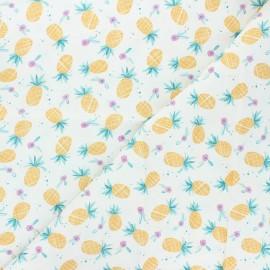 Tissu coton Dear Stella Summer lovin' - Pineapples - blanc x 10cm