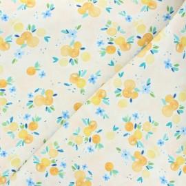 Dear Stella cotton fabric Summer lovin' - beige Oranges x 10cm