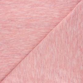 Flamed light jersey fabric - coral Olando x 10cm